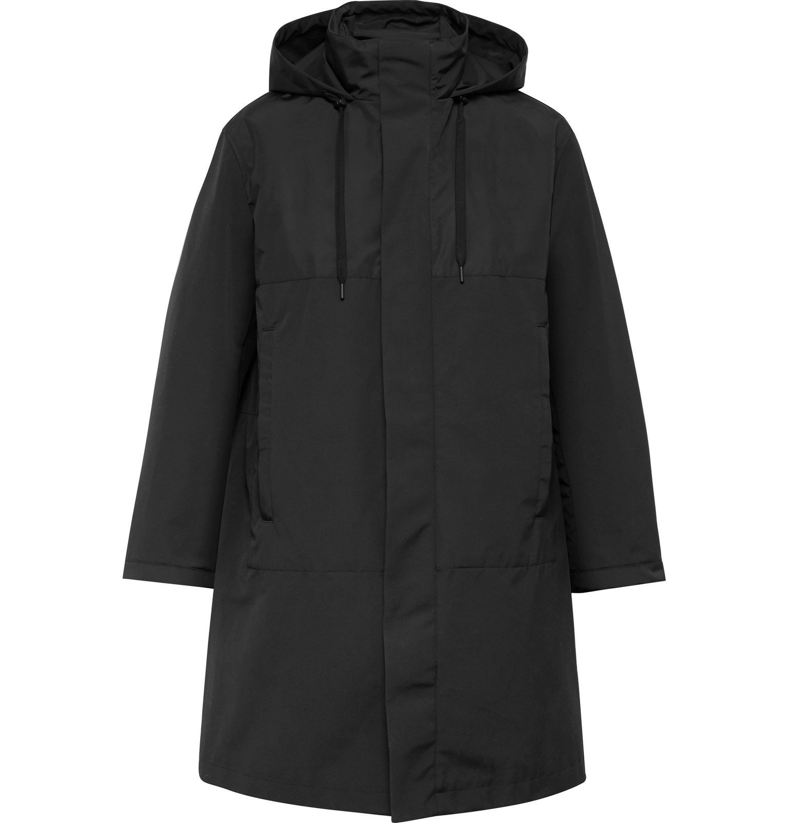 Photo: Theory - Philip Shell-Panelled Cotton-Blend Parka with Removable Down Liner - Black