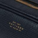 Smythson - Cross-Grain Leather Wash Bag - Blue
