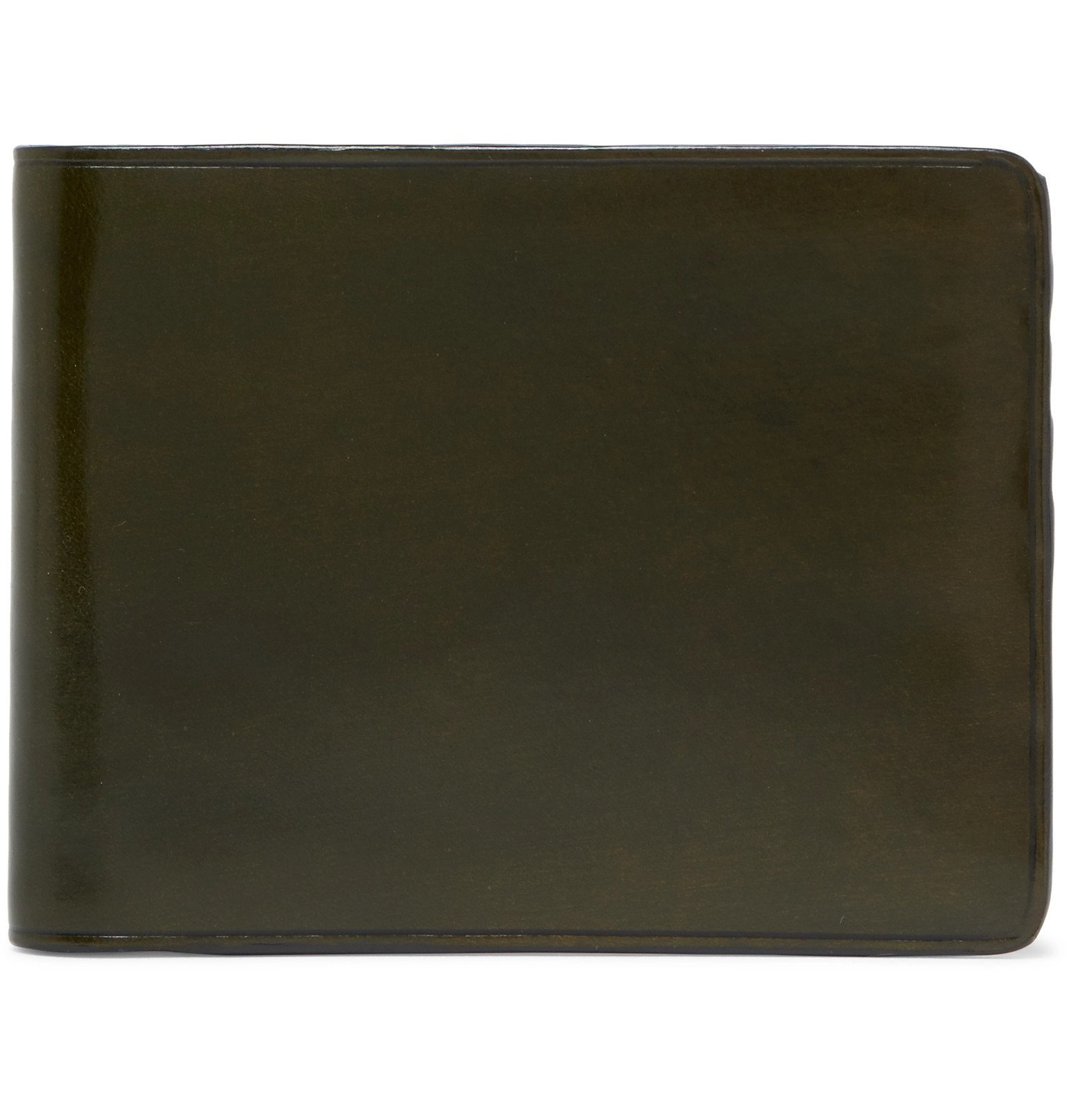 Photo: Il Bussetto - Polished-Leather Billfold Wallet - Green