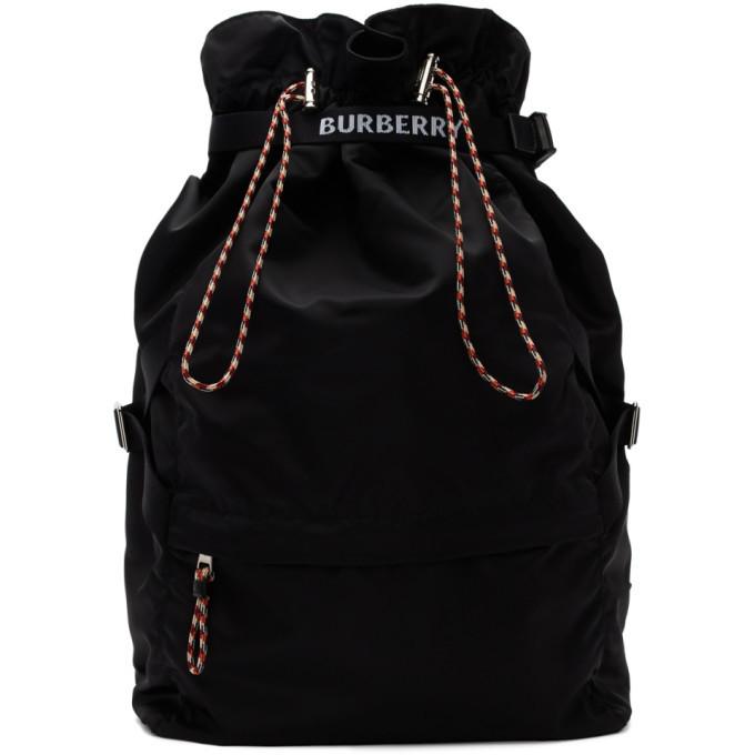 Photo: Burberry Black Drawstring Backpack