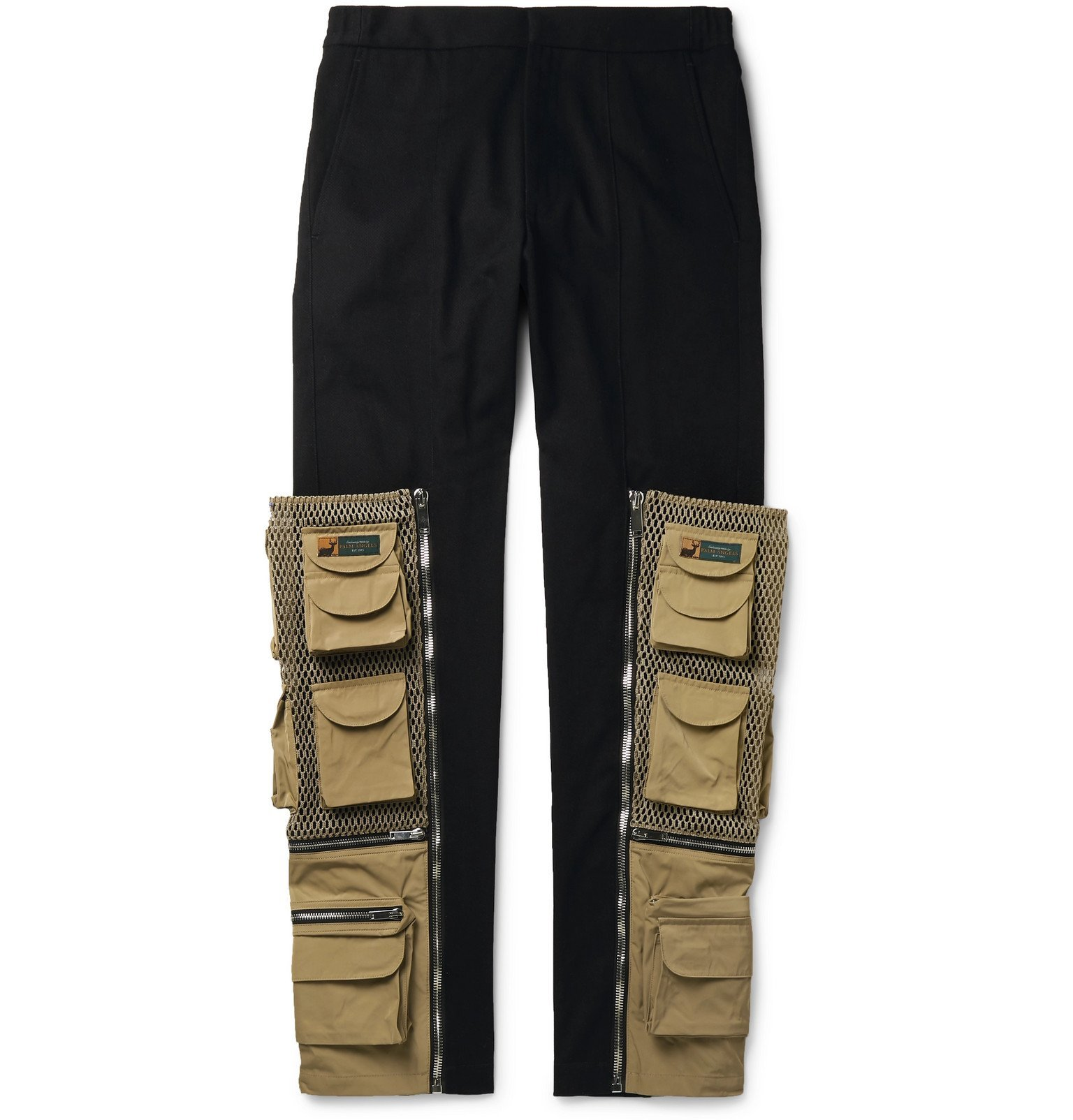 Photo: Palm Angels - Panelled Cotton-Twill Cargo Trousers - Black