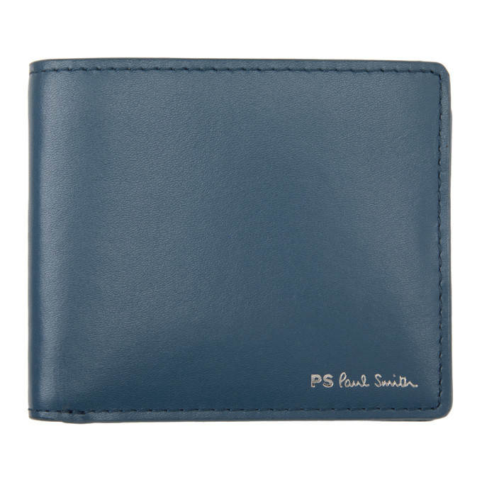Photo: PS by Paul Smith Blue Tie-Dye Bifold Wallet