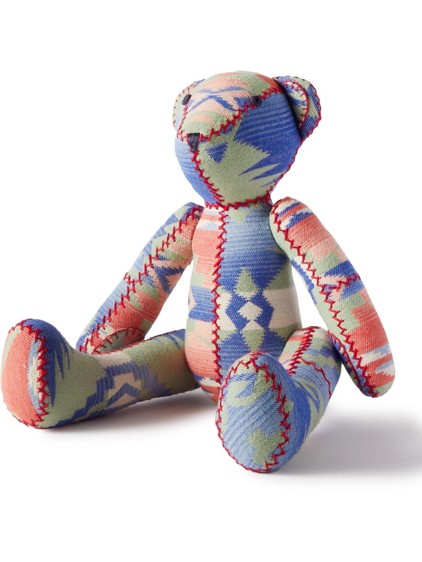Photo: RRL - Limited Edition Patchwork Cotton-Jacquard Teddy Bear