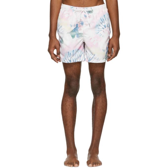 Photo: Bather Multicolor Acid Tie-Dye Swim Shorts