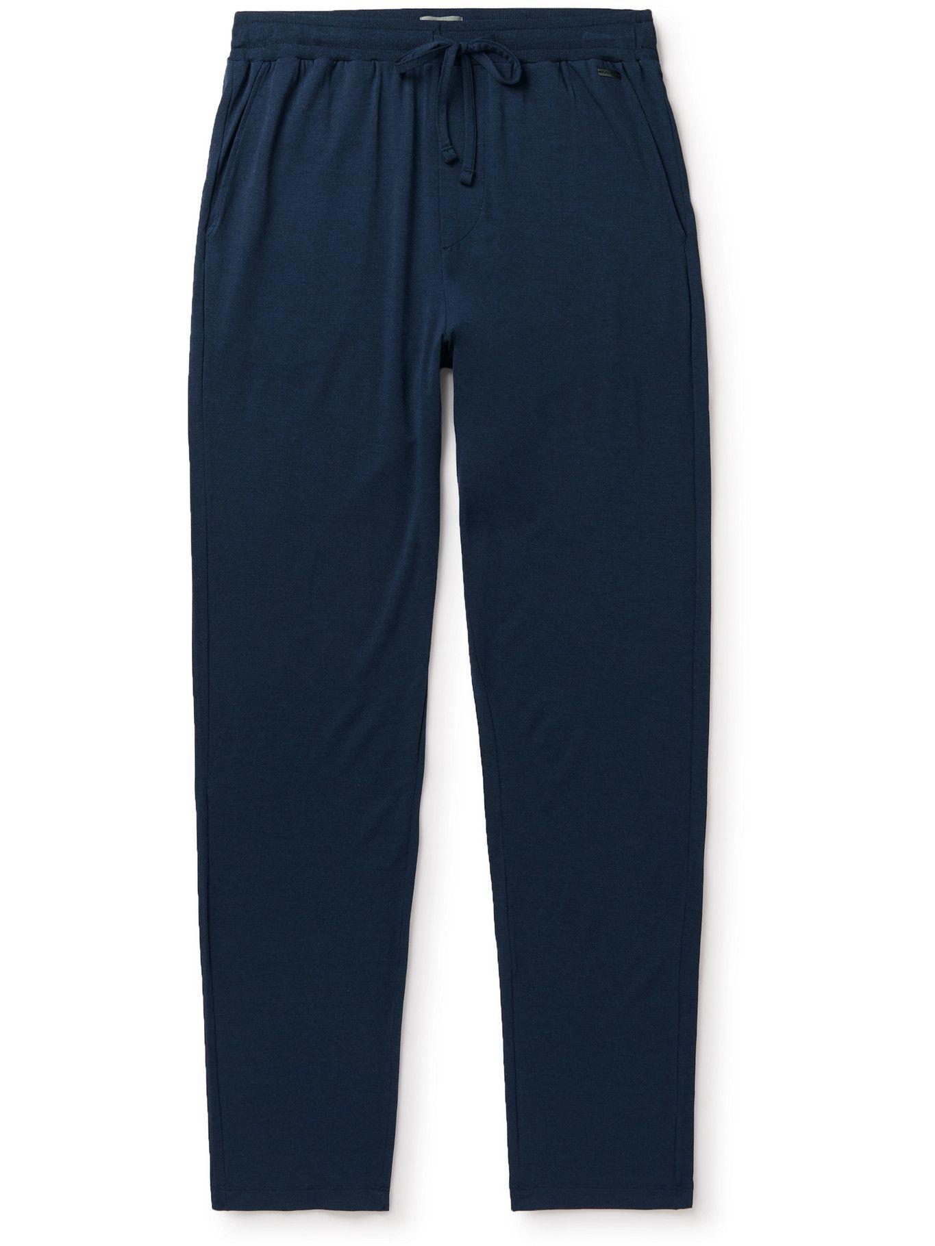 Hanro - Stretch-Jersey Pyjama Trousers - Blue
