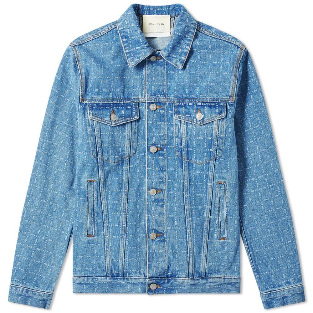 Photo: 1017 ALYX 9SM Logo Check Denim Jacket