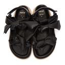 Sacai Black Bow Tie Sandals