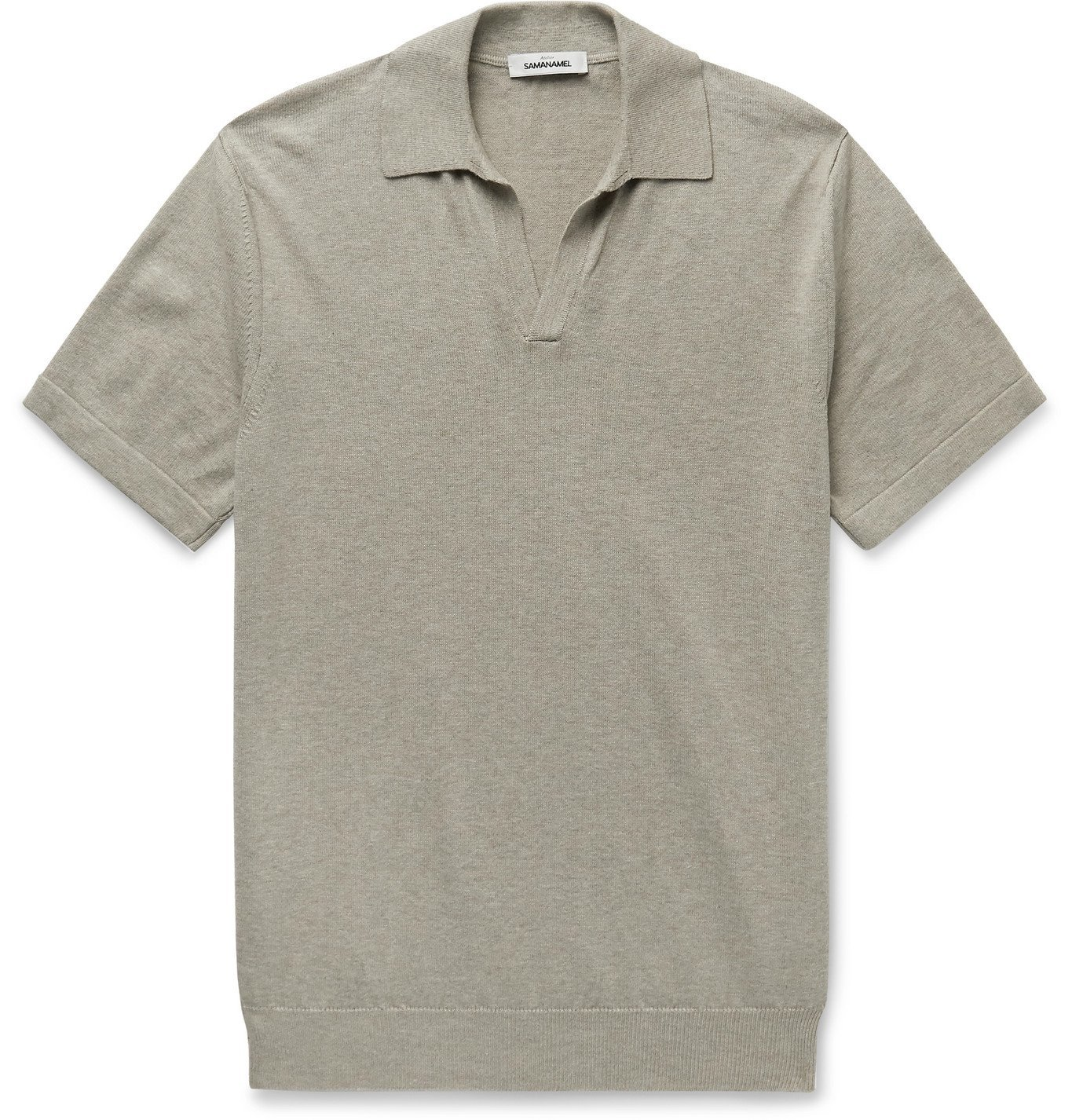 Photo: Saman Amel - Cotton Polo Shirt - Neutrals