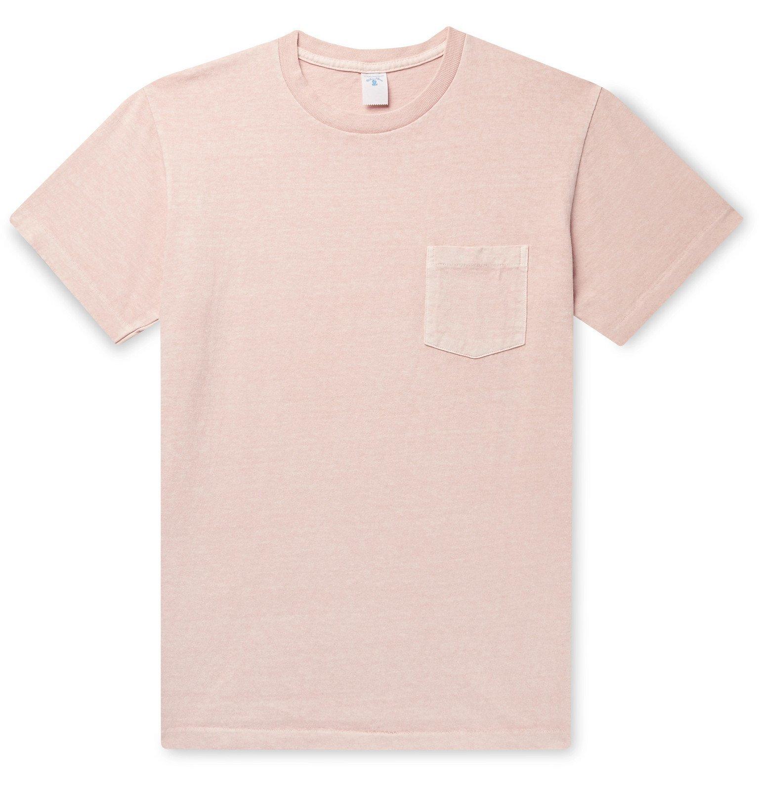 Photo: Velva Sheen - Pigment-Dyed Cotton-Jersey T-Shirt - Pink