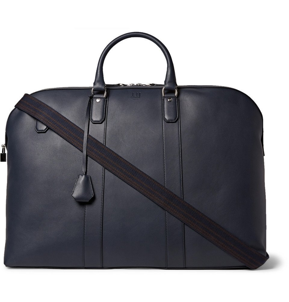 Dunhill - Hampstead Leather Holdall - Men - Navy