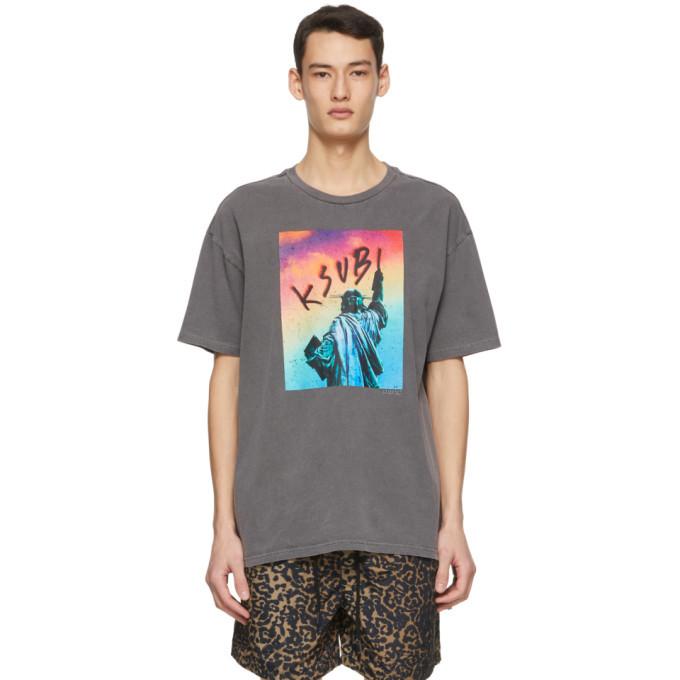 Ksubi Grey Liberated Biggie T-Shirt