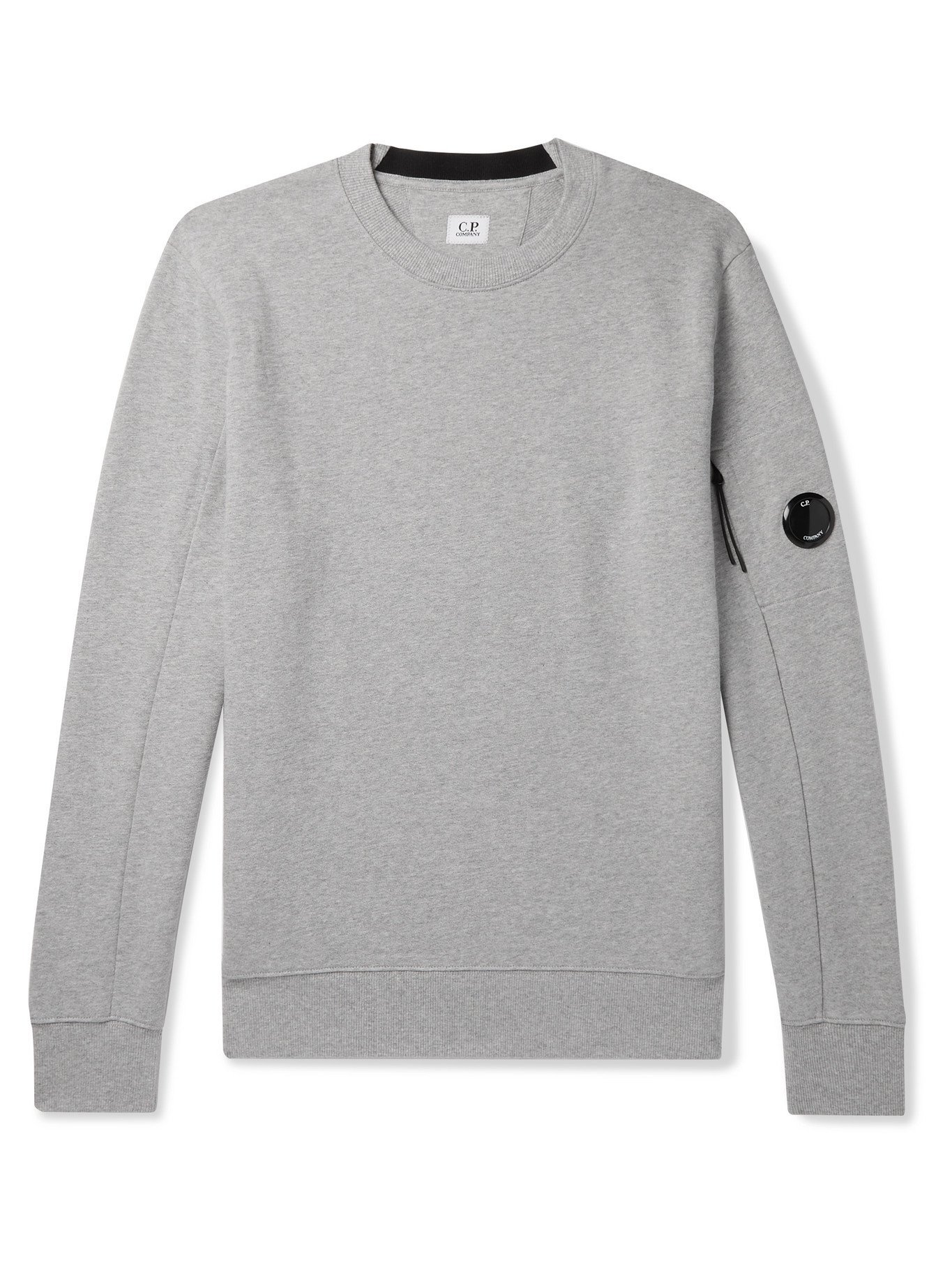 Photo: C.P. COMPANY - Logo-Appliquéd Fleece-Back Cotton-Jersey Sweatshirt - Gray