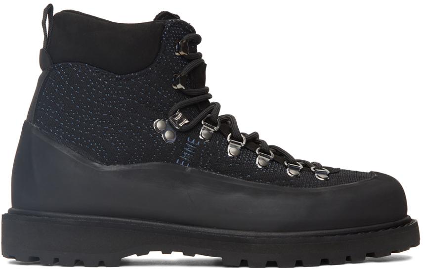 Photo: Diemme Black & Blue Knit Roccia Vet Lace-Up Boots