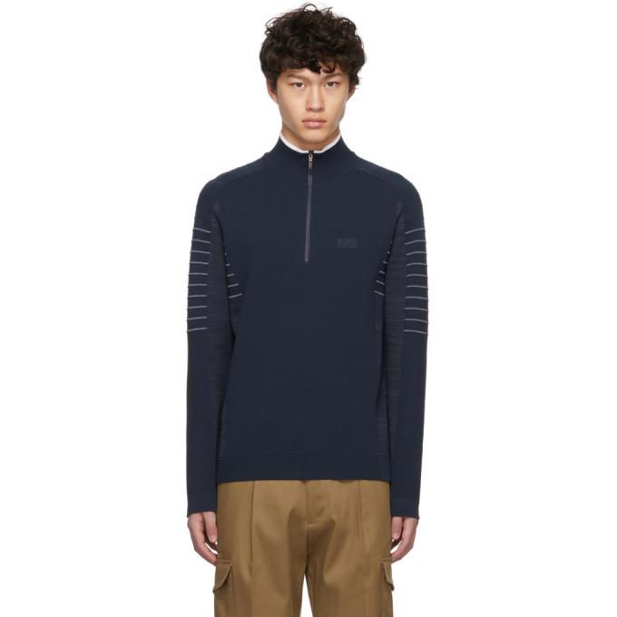 Photo: Boss Navy Zoaya Pro Half Zip Sweater