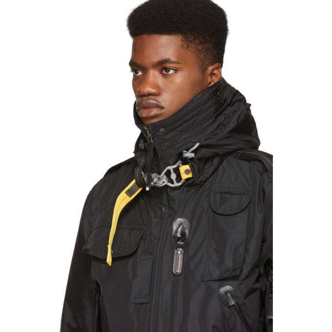 Parajumpers Black Down Masterpiece Base Gobi Jacket
