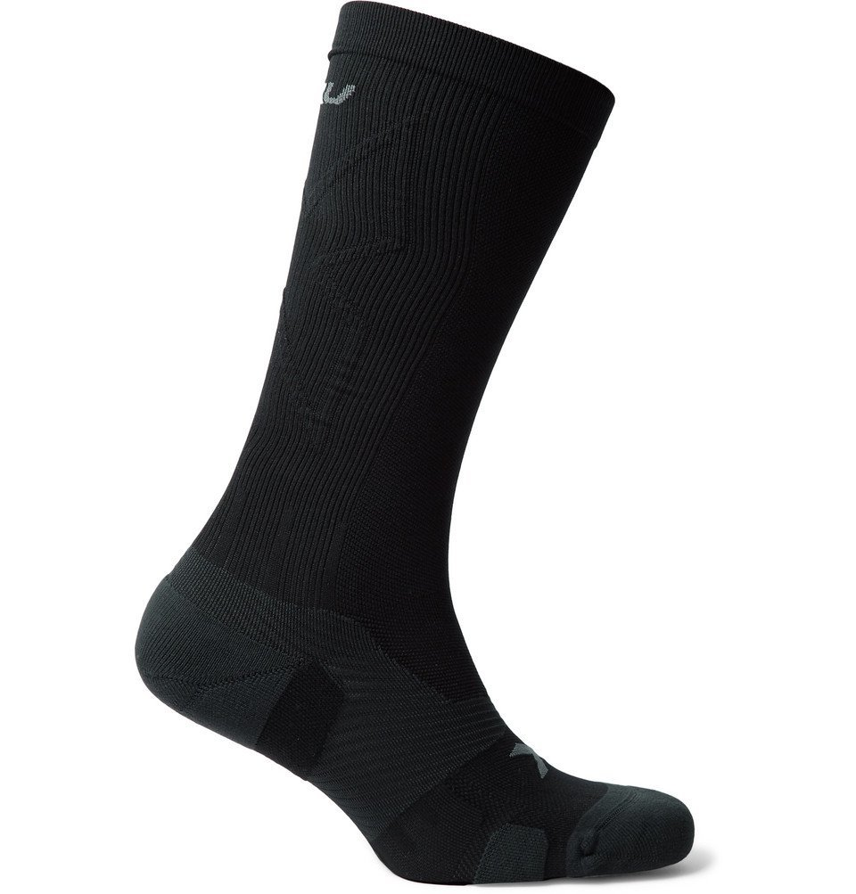 Photo: 2XU - Vectr Cushioned Stretch-Nylon Full-Length Compression Socks - Black