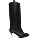 Sacai Black Tall Heeled Cowboy Boots