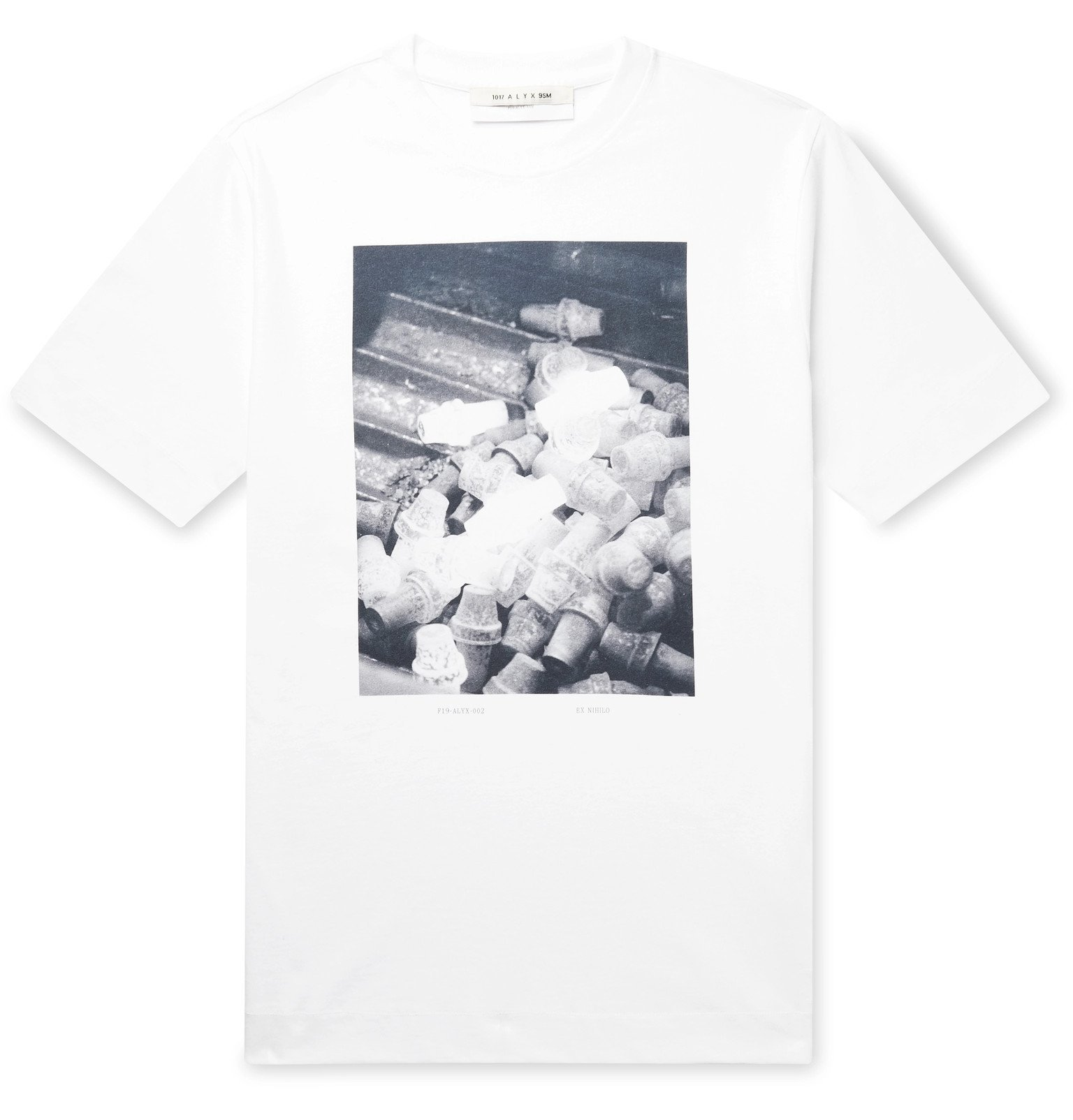 1017 ALYX 9SM - Printed Cotton-Jersey T-Shirt - White