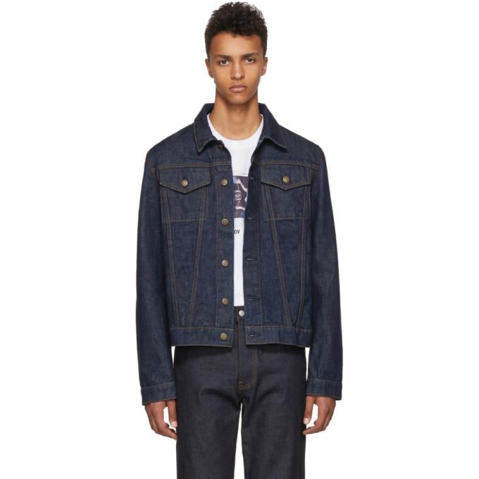 Helmut Lang Blue Re-Edition Stripe Denim Jacket