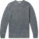 Sunspel - Mélange Shetland Wool Sweater - Blue