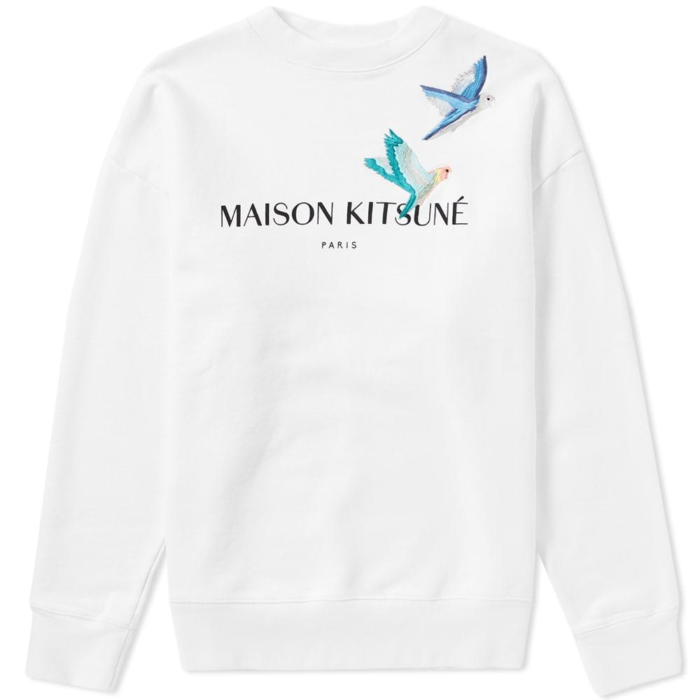 Photo: Maison Kitsuné Lovebirds Crew Sweat