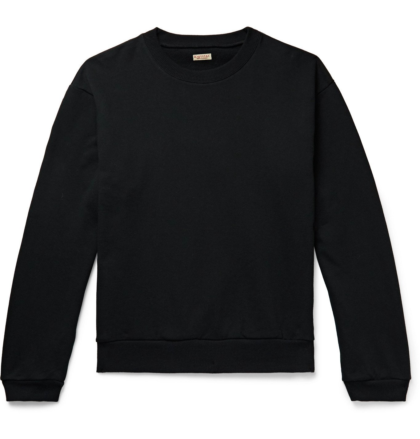 Photo: KAPITAL - Printed Loopback Cotton-Jersey Sweatshirt - Black