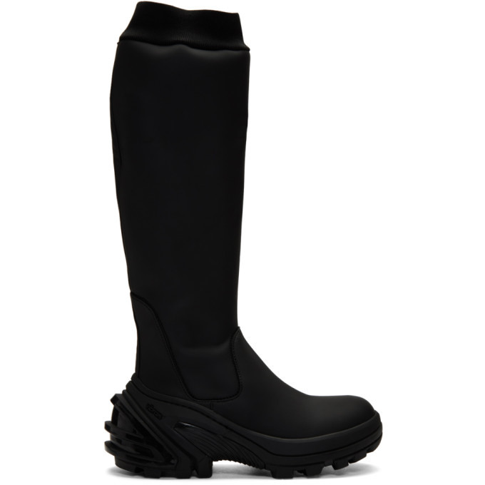 Photo: 1017 ALYX 9SM Black Fixed Sole Knee Boots