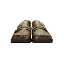 Martine Rose Brown Snake Loafers