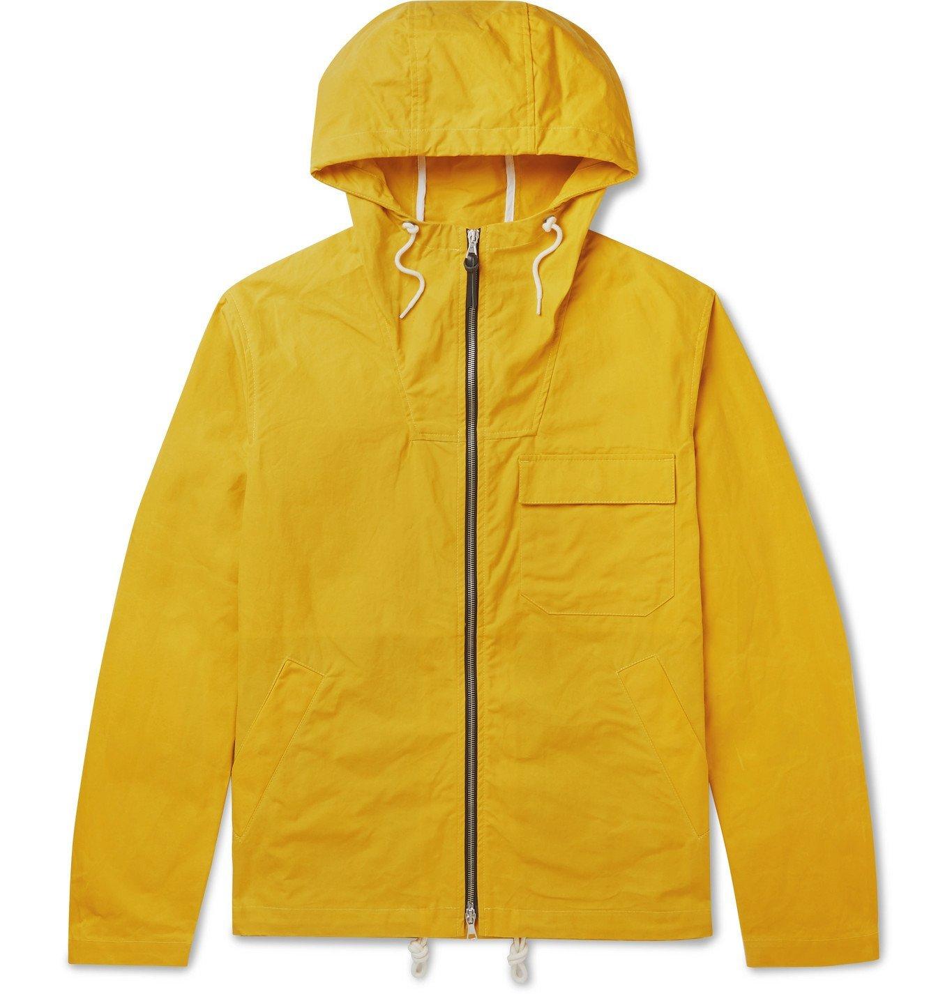 Photo: Albam - Hooded Cotton-Canvas Parka - Yellow