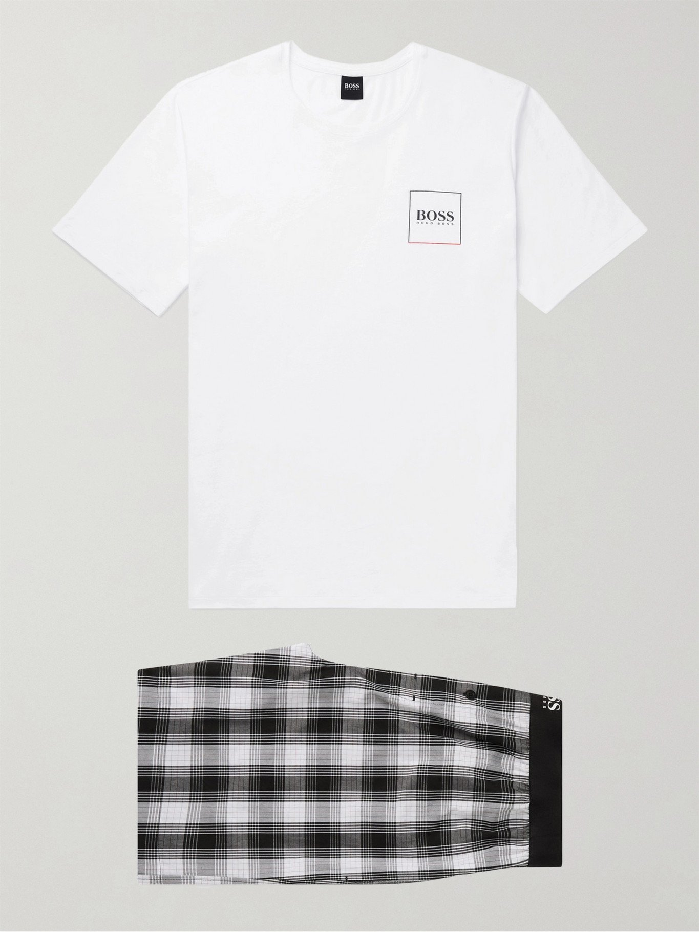 HUGO BOSS - Stretch-Cotton Pyjama Set - Black
