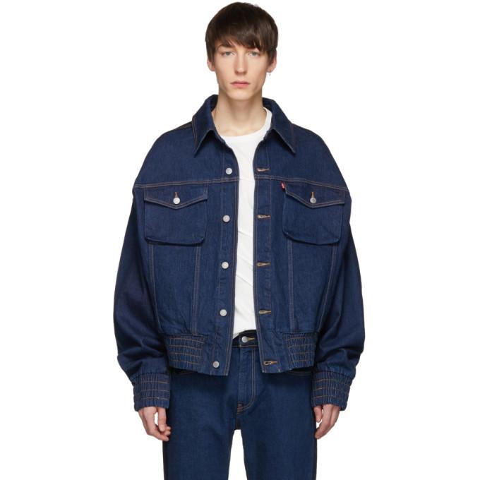 Photo: Feng Chen Wang Indigo Levis Edition Contrast Denim Jacket