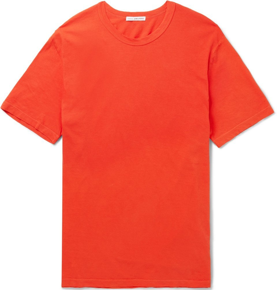 Photo: James Perse - Combed Cotton-Jersey T-Shirt - Men - Tomato red