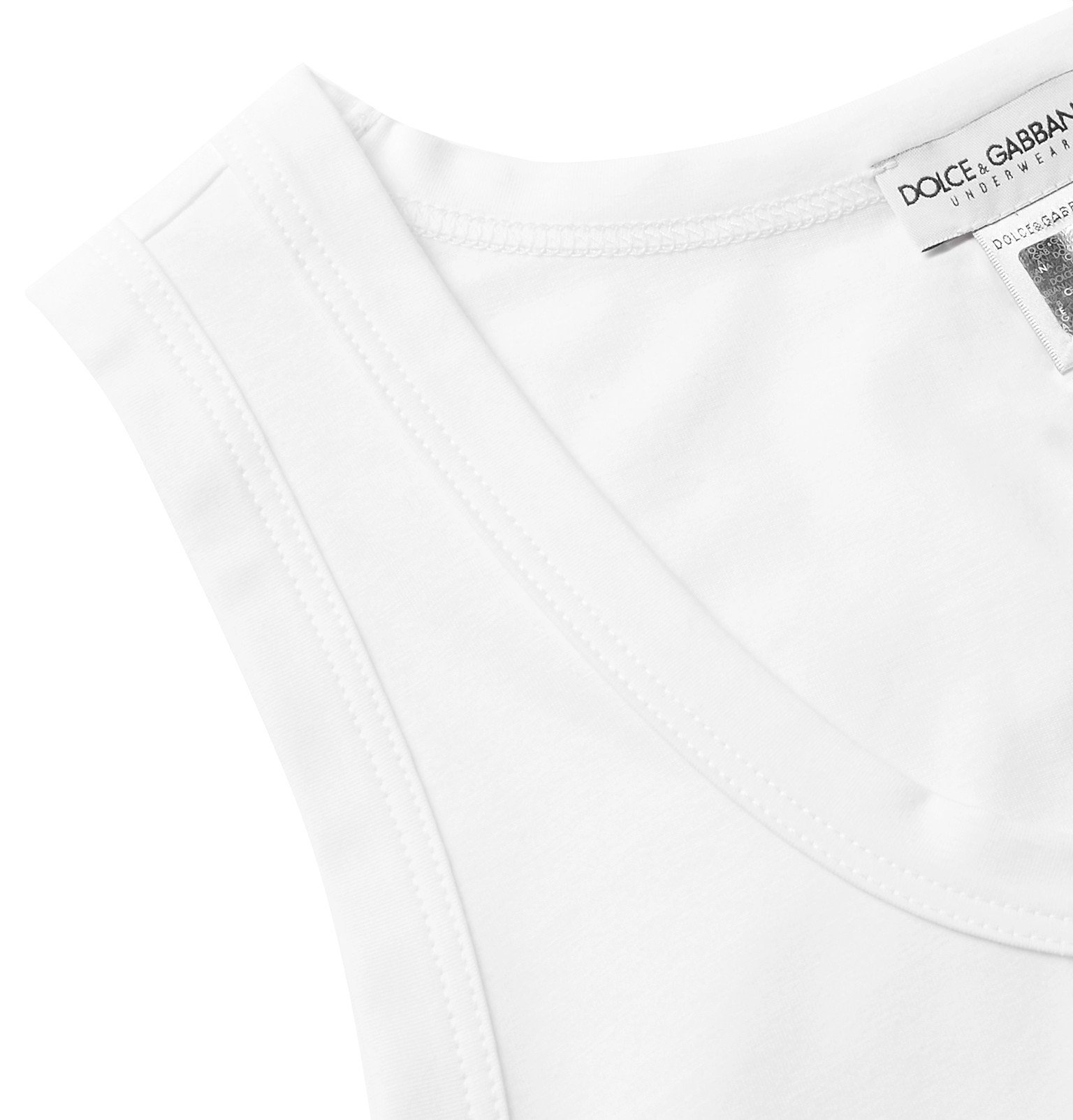 Dolce & Gabbana - Slim-Fit Stretch-Cotton Jersey Tank Top - White