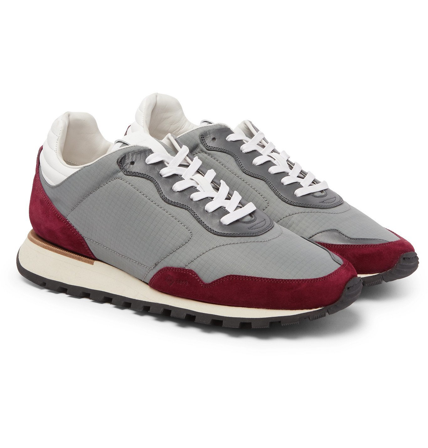 Dunhill - Axis Ripstop, Suede and Leather Sneakers - Gray