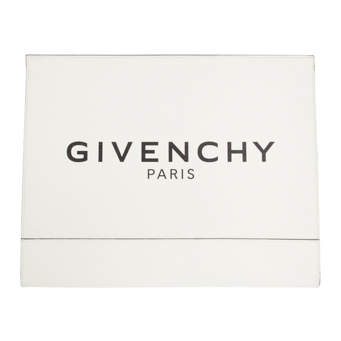 Photo: Givenchy White Large Glow-In-The-Dark Pouch