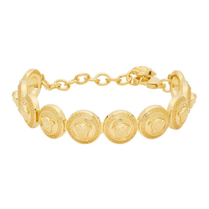 Photo: Versace Gold Medusa Medallion Bracelet