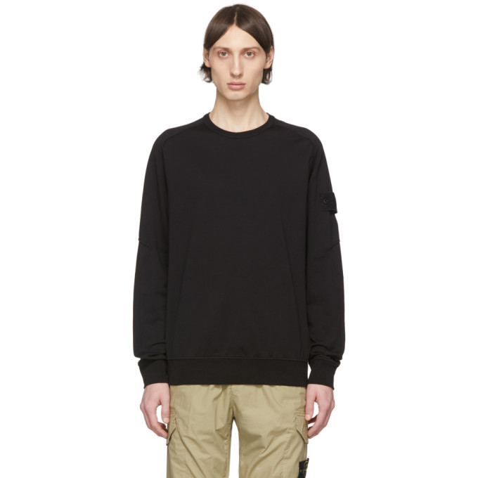 Photo: Stone Island Black Cotton Sweatshirt