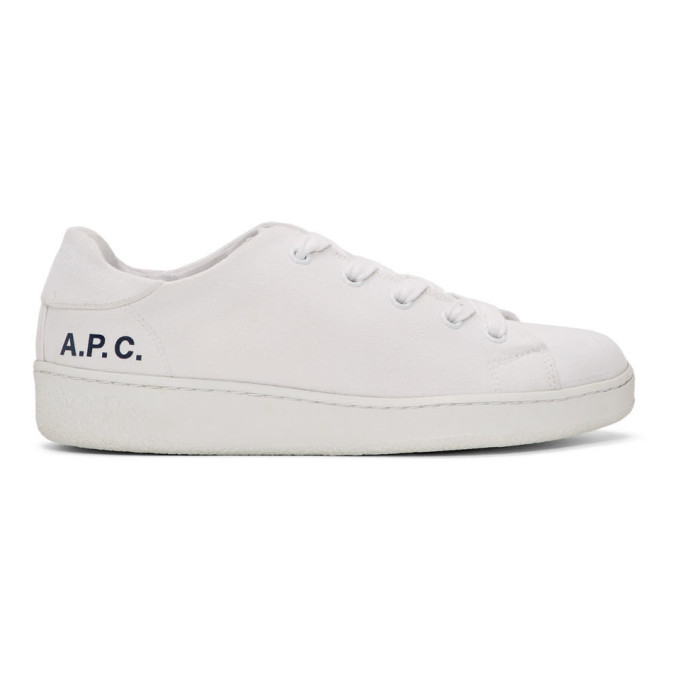 A.P.C. White Minimal Sneakers A.P.C.