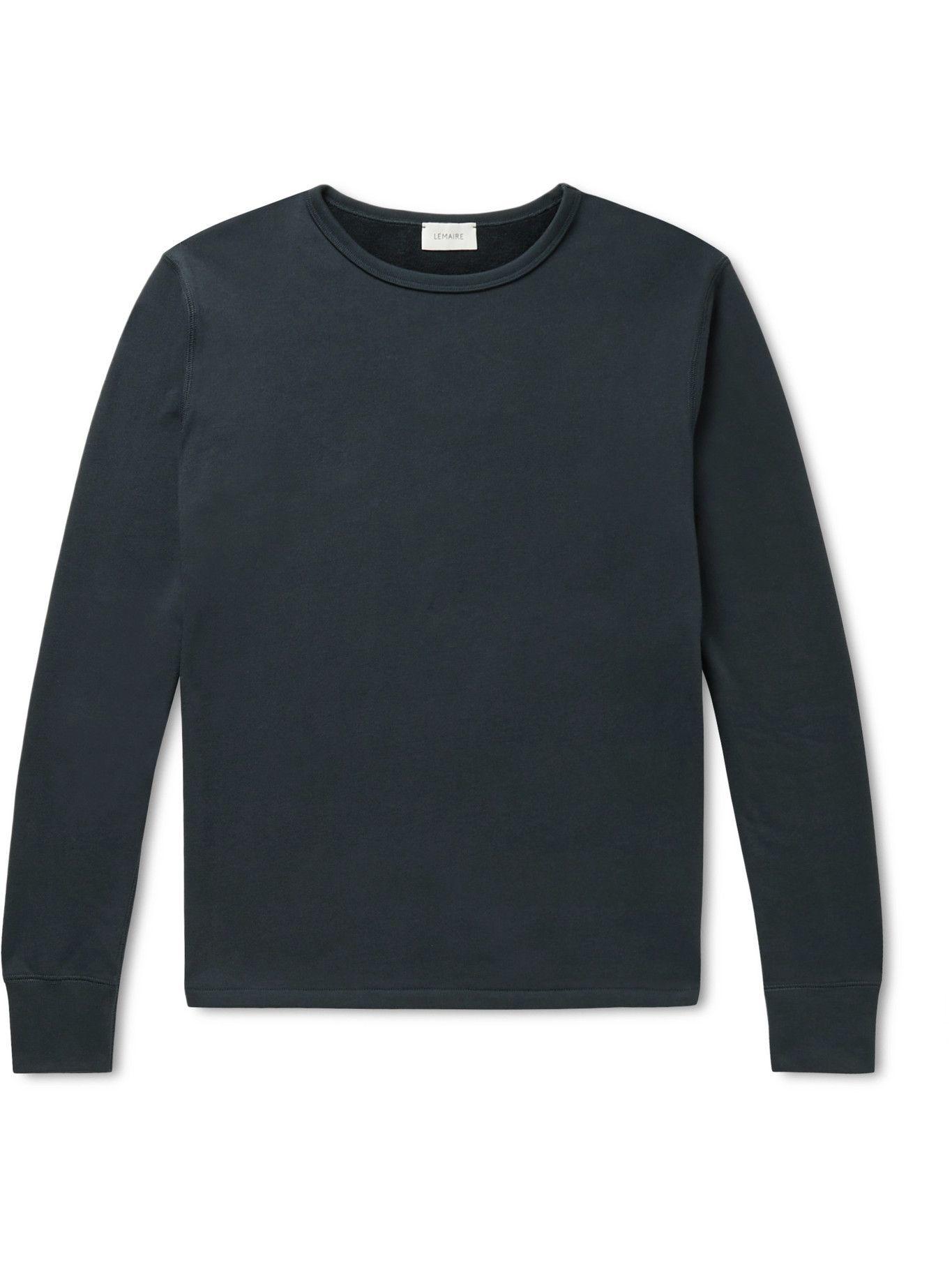 Photo: Lemaire - Cotton-Jersey T-Shirt - Blue