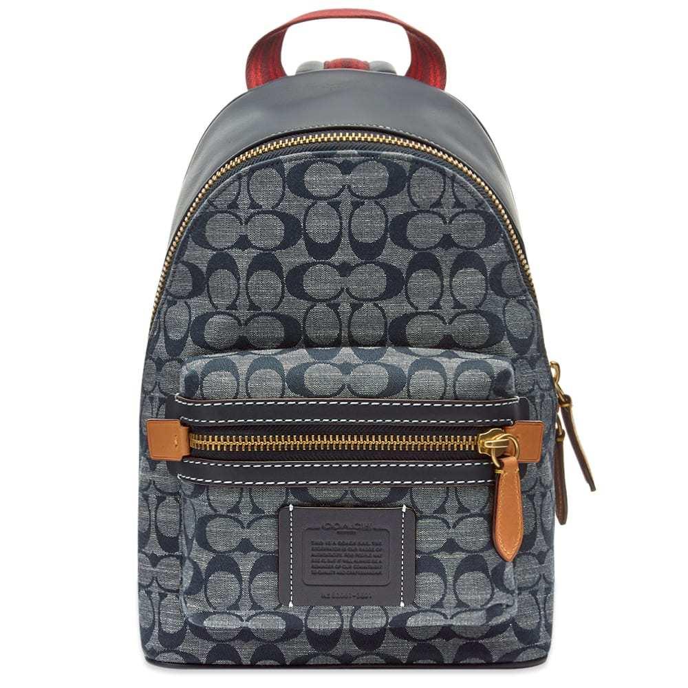 Photo: Coach Signature Logo Chambray Backpack