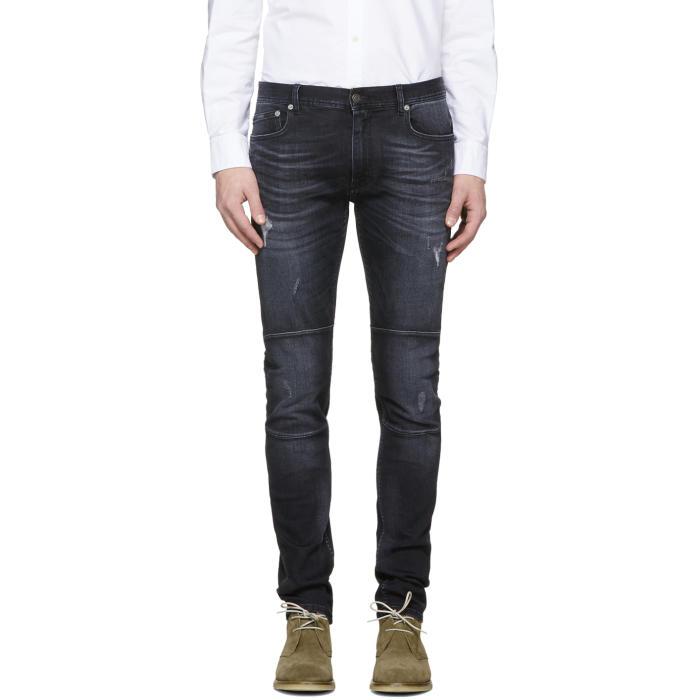 Photo: Belstaff Black Distressed Tattenhall Jeans