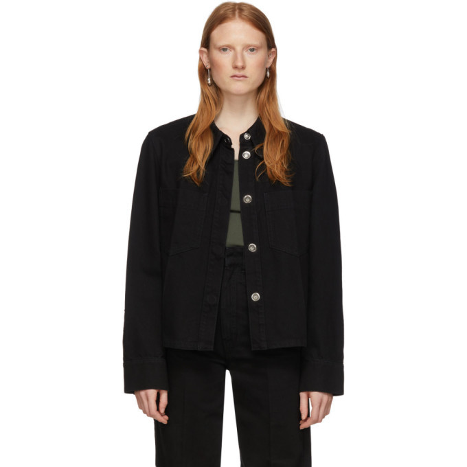 Photo: Lemaire Black Denim Boxy Jacket