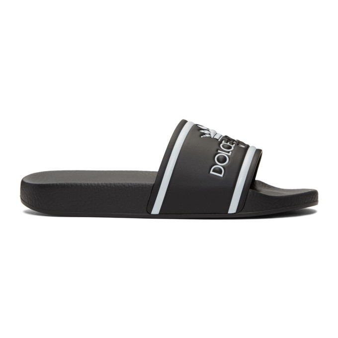 Photo: Dolce and Gabbana Black Milano Logo Slides
