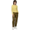Acne Studios Khaki Louiza Leather Trousers