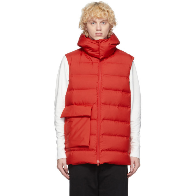 Photo: Y-3 Red Down Classic Puffy Vest