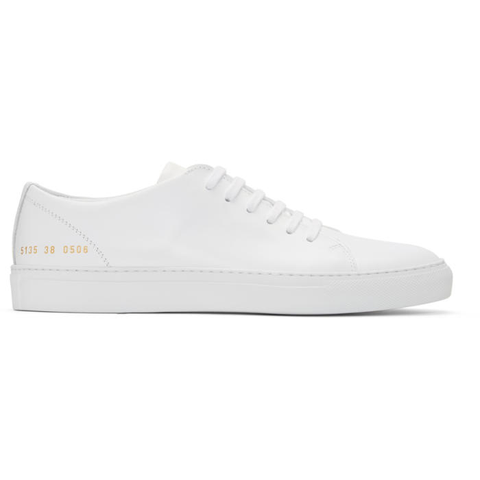Common Projects White New Court Low Sneakers
