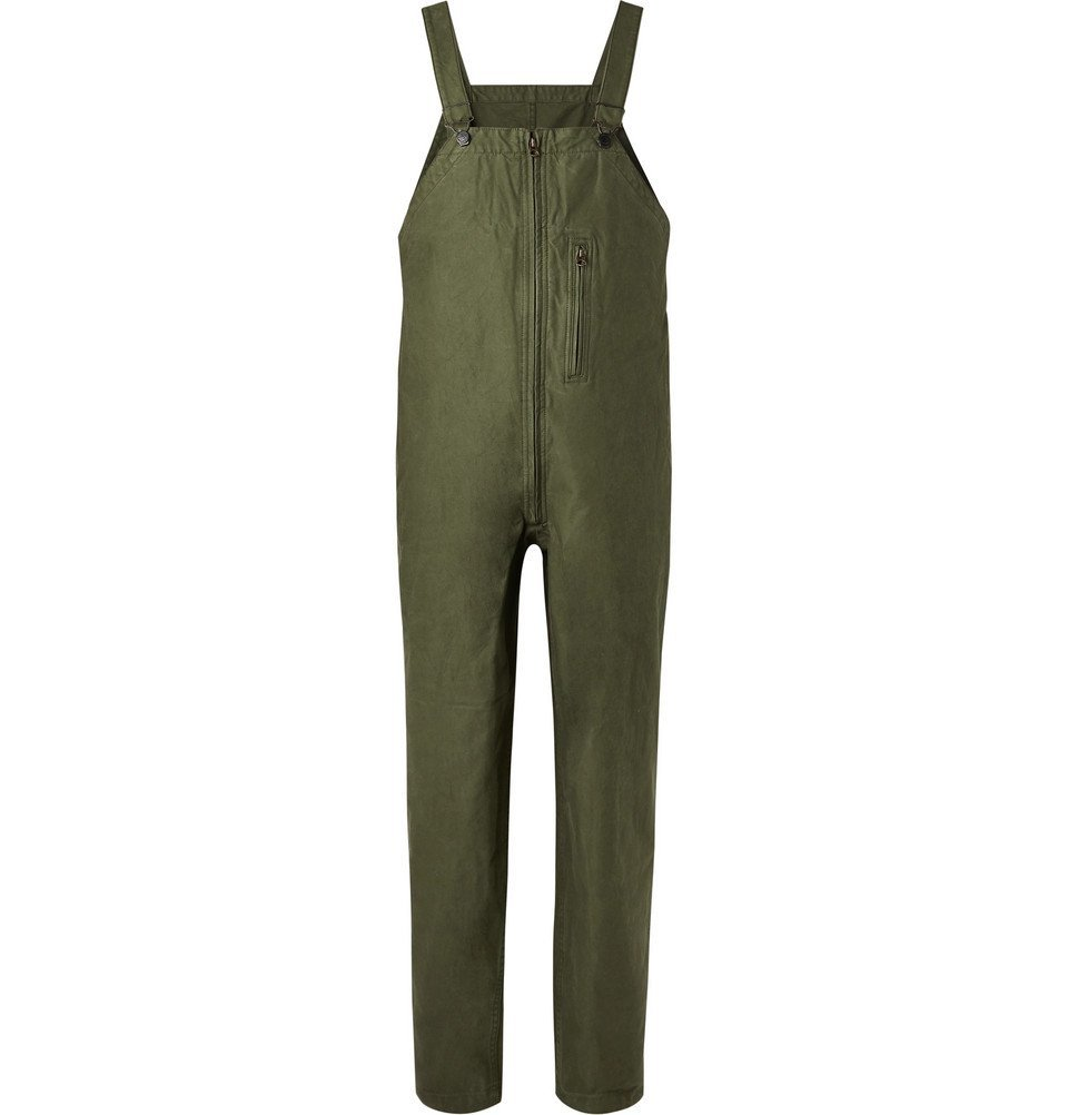 Photo: Beams Plus - Cotton-Canvas Bib Overalls - Green