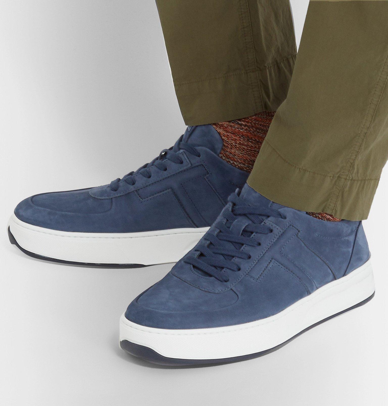 Tod's - Cassetta Nubuck Sneakers - Blue