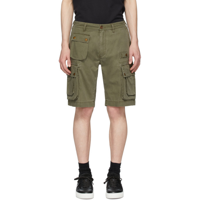 Photo: Belstaff Green Castmaster Shorts