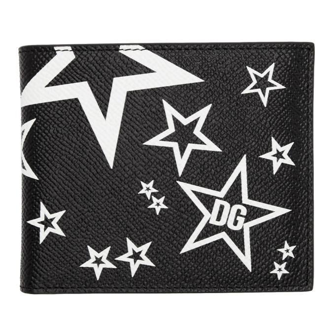 Photo: Dolce and Gabbana Black Millennial Star Bifold Wallet
